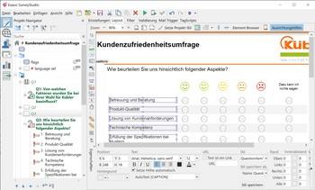 Umfrage Software Exavo SurveyStudio - Umfrage Layout