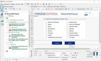 Umfrage Software Exavo SurveyStudio - Umfrage Design
