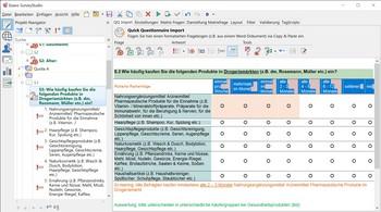 Umfrage Software Exavo SurveyStudio - Quick Questionnaire Import